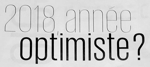titre article presse 2018 année optimiste
